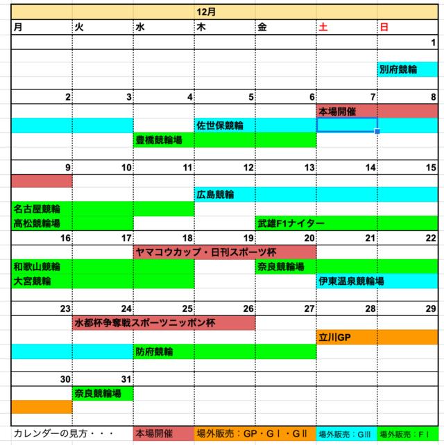 大垣競輪場12月開催日程