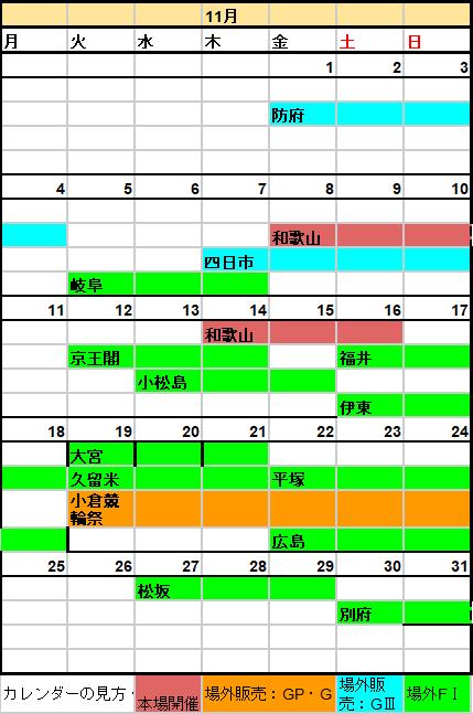 和歌山競輪場,開催日程,スケジュール