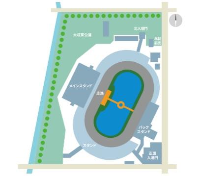 大垣競輪場 場内地図