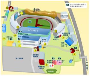 岸和田競輪場,場内地図