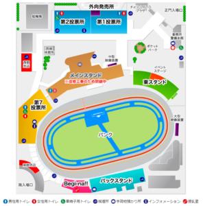 静岡競輪,場内地図