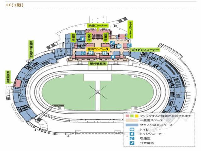 松山競輪場 場内地図1