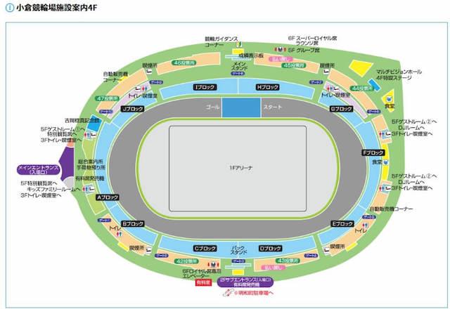 小倉競輪場 場内地図1