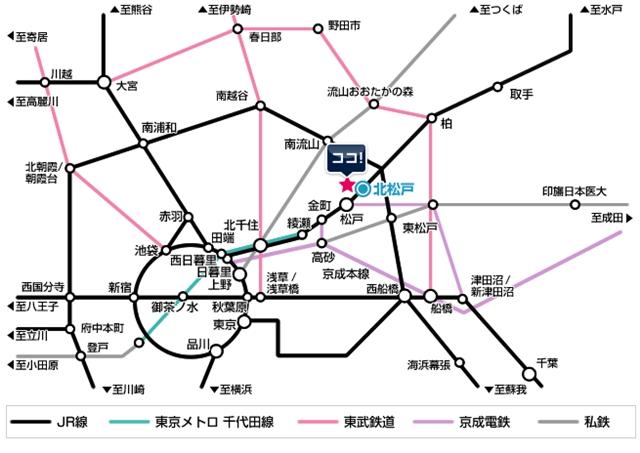 松戸道路図