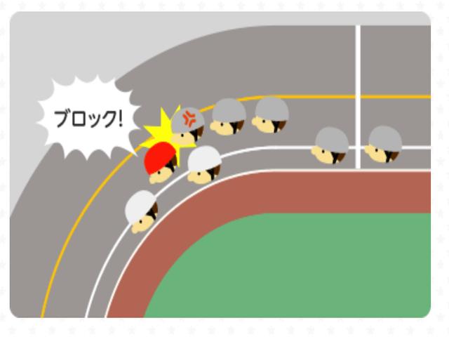 初心者にもわかる競輪の牽制画像